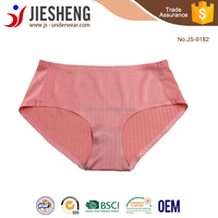 Hot Sale Fashion Wholesale Women Brief Panty Laser Cut Body Slim Comfortable Sexy Pink Color Seamless Panty