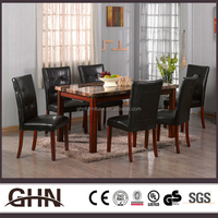Solid wood antique factory sale table set 3048 unfinished wood furniture wholesale with great price