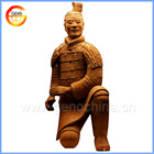 Kneeling down antique warrior statue for thanksgiving day gift