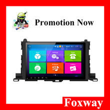 Multimedia 10.1inch GPS Navigation System Double 2 Din In Dash in car dvd player for Toyota Highlander
