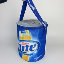 Custom promotion portable insulated round beer bottle ice cooler bag