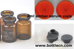 print glass bottle with color cap for contact lens packaging