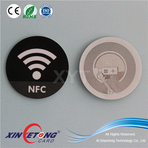 Dia40mm 213 Blank NFC Sticker Tag In Roll with encoding an URL