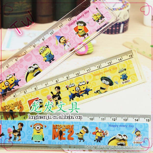 Alibaba most cheap china school stationery wholesale 2017 top quality funny cartoon design ruler plastic online shopping