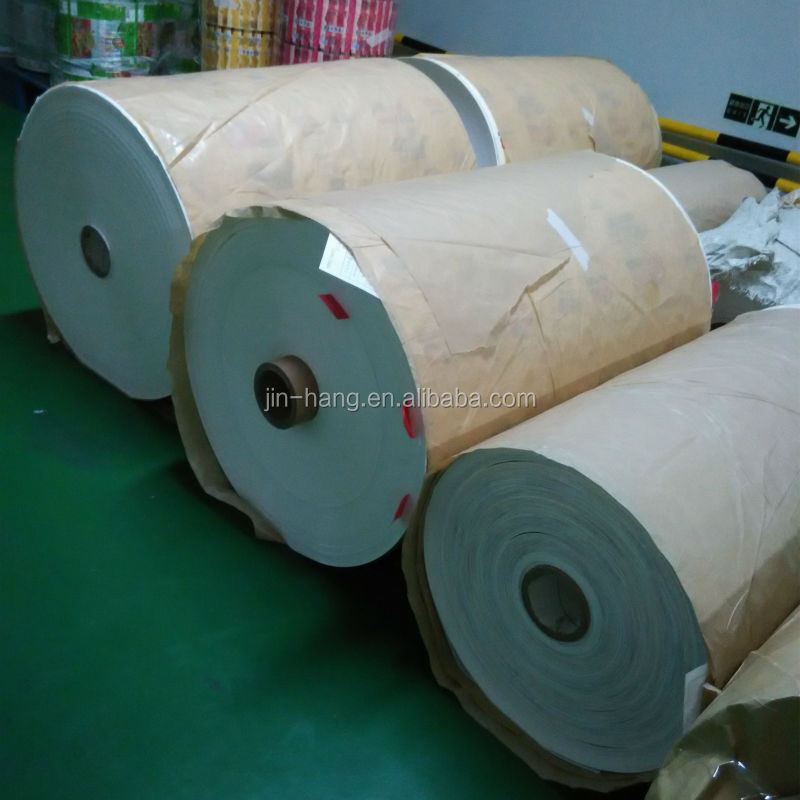 China Printed food graded wrapping roll/food packaging wrapper/food paper roll FDA