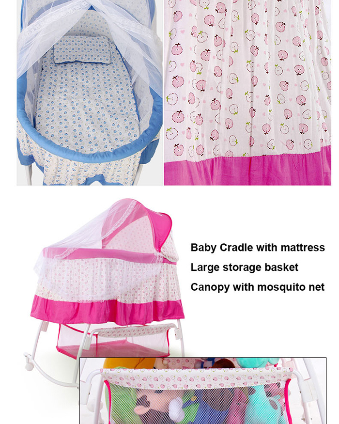 NEW China Manufacturer Portable Baby Bassinet Mosquido Net Rocking baby swing bassinet Large Storage Basket Pink  sc 1 st  Anhui Cool-Baby Children Products Co. Ltd. - Alibaba & NEW China Manufacturer Portable Baby Bassinet Mosquido Net Rocking ...