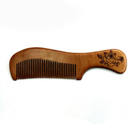 Personal service wooden hair straightener comb
