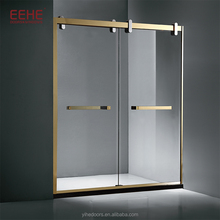 BS6206 portable shower screen with hinge for shower screen