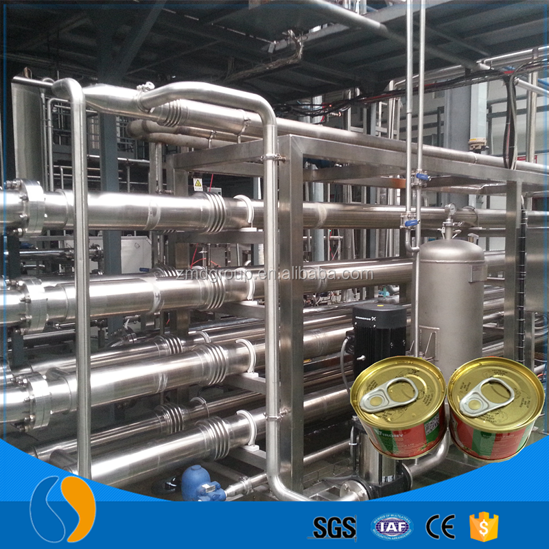 Automatic tomato paste production and packing line