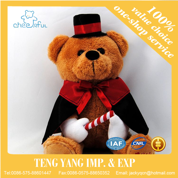 Christmas gift brown teddy bear plush toy