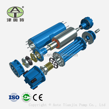 Electric water supply submersible asynchronous pump motor for Waterproof submersible electric motors