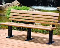 WPC waterproof garden chair, Park chair, Outdoor bench