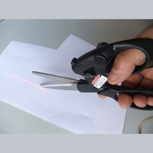New Professional Laser Guided Scissor For Crafts Wrapping Gifts Fabric Laser Scissors For Fabric