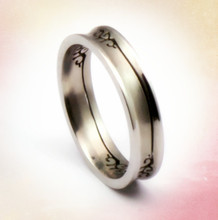 Concave stainless steel bulk sale stainless steel fashion jewelry ring