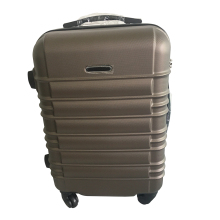 ABS single wheel single zipper iron trolley luggage bags