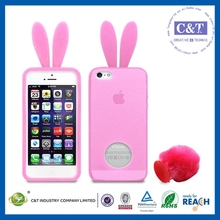 The hot-selling transparent 3d silicone case for iphone 5c