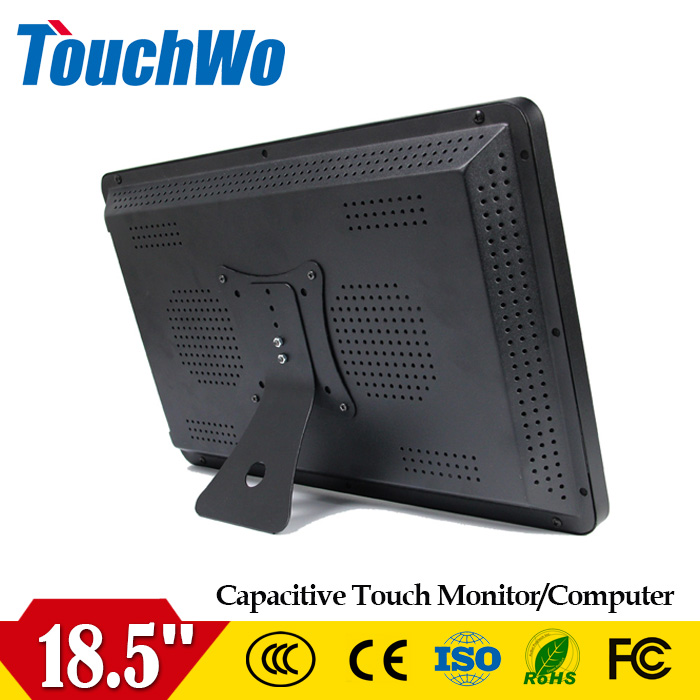 Free drive18.5/19/21.5 inch lcd monitor with touch screen 1366*768 250 nits waterproof