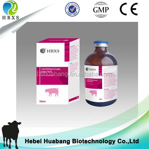 5% Oxytetracycline Injection For Pig Veterinary Gmp Pharmaceutical Companies