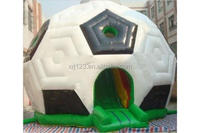 custom high quality inflatable soccer bounce house ,inflatable slide bouncy castle equipment