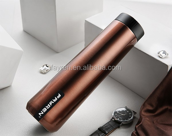 Heat insulated double wall stainless steel vacuum thermos cup