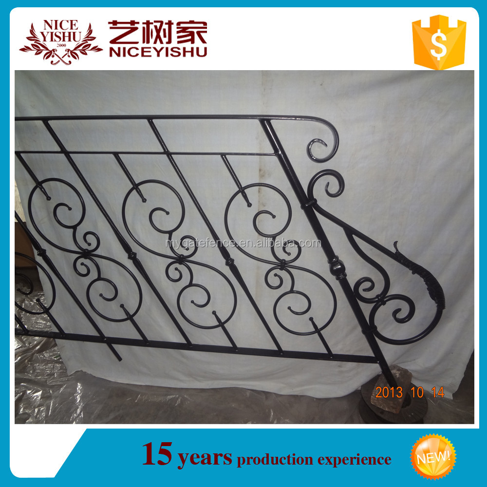 wrought iron Decorative hot selling outdoor metal stair railing design