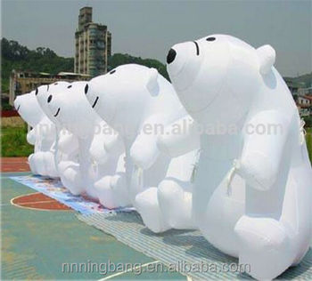 3m height giant inflatable bear for advertising sale