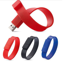 Custom High Quality 16GB Silicone Wristband Pendrive