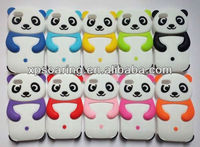 3D Panda silicone cover case for iphone 5C
