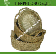 round shape wicker basket/willow basket with handle