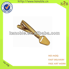 latest popular gold tie clip with custom logo