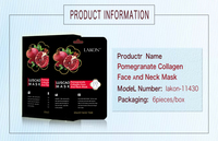 Buy direct from china manufacturer with pomegranate collagen face and neck mask with korean skin care products