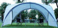 Factory hot sale dome sunshading beach shelter dome arch canopy steel frame canopy picnic tent BBQ tent