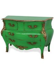 French Hand Painted Louis Xv Style Commode In Four Drawers