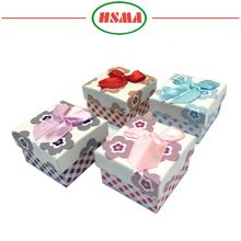 Custom sweet style paper gift packaging box for gift or jewelry packaging