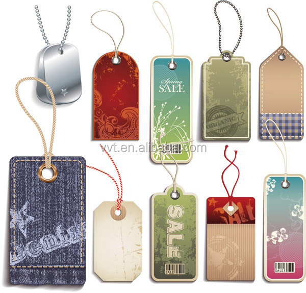New fashion Custom Design Garment Paper Hangtag