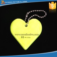 Colored Promotion Gift PVC Material Reflective Warning Key Chain /Key Pendant