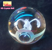 Crystal Glass Ball with 3D Laser Engraving Cartoon Images