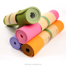 High quality eco friendly custom label TPE 6mm yoga mat
