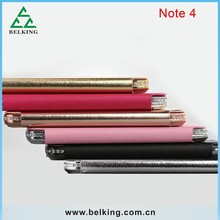 ShenGo Brand Diamond Frame Leather Folding Case For Samsung Note 4, For Galaxy Note 4 Screen Window Folio Case