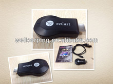 2014 Newest!Best Price!DLNA HDMI ipush Airplay!Hot sale! High Quality! chromecast ezcast dongle