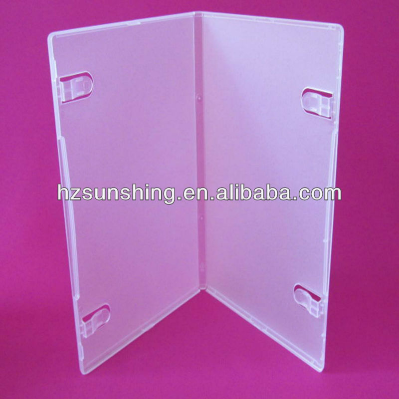 9mm dvd box style blank storage pp box