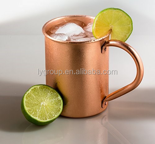 Solid 100% pure Copper Moscow Mule Mug with Shot Glass - 100% Pure Copper for Mules, Camping, Copper Infused bottle