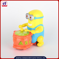 Lovely baby toys BO Minions with 3D light and music