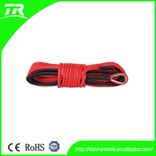 6000lbs red heavy duty synthetic winch rope