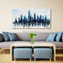 Wholesale New Designs Modern Abstract Building Oil Painting