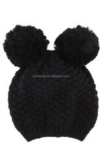 Customized most popular tassels knitted hat