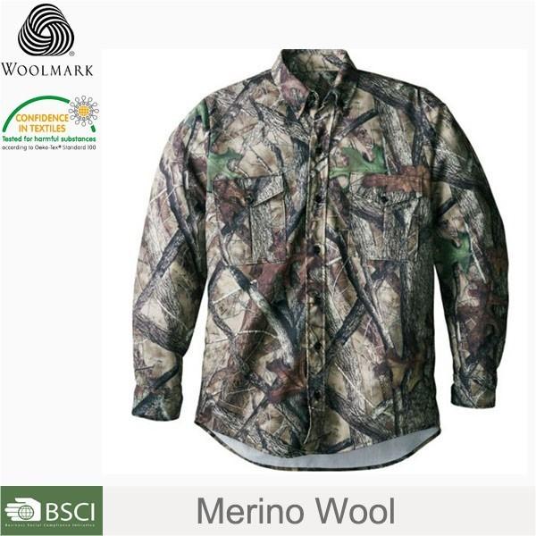 Military style shirts men,camouflage merino wool Shirts