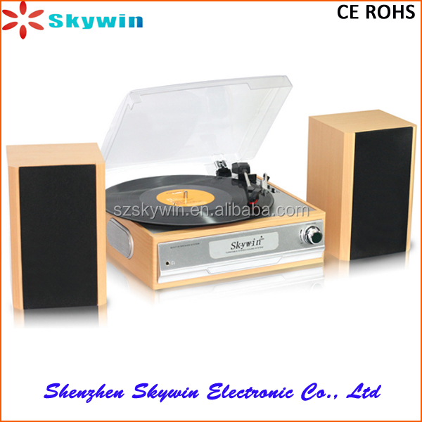 Skywin Best Selling Retro Cassette Turntable Player with /USB /SD Player With Tape , AM , FM Radio