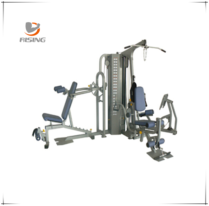 qj-hm027 three station home gym with 90kg*2 iron weight stack