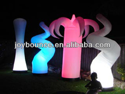 inflatable cone with led,inflatable led column,inflatable led tusk